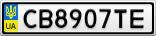 Номерной знак - CB8907TE