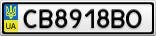 Номерной знак - CB8918BO