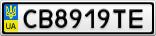 Номерной знак - CB8919TE