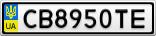 Номерной знак - CB8950TE