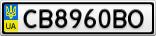 Номерной знак - CB8960BO