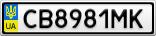 Номерной знак - CB8981MK