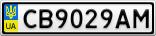 Номерной знак - CB9029AM