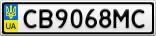 Номерной знак - CB9068MC