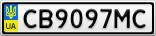 Номерной знак - CB9097MC