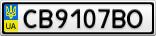 Номерной знак - CB9107BO