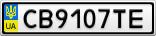 Номерной знак - CB9107TE