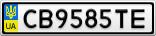 Номерной знак - CB9585TE