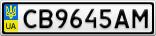 Номерной знак - CB9645AM